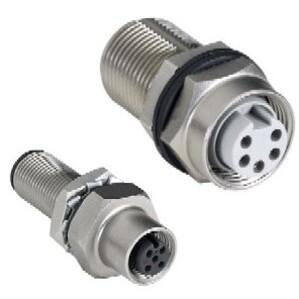 Allen-Bradley 1485A-CXN5-M5 Bulk Head Connector, Pass-Thru, Mini 5-Pin, Thick or Thin Media