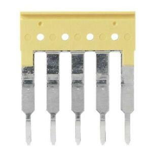 Allen-Bradley 1492-CJK5-2 Terminal Block, Jumper, Screwless, 2P, Yellow, for 1492-L3