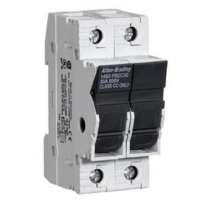 Allen-Bradley 1492-FB2M30-L Fuse Holder, Midget Size, 30A, 2P, 110 - 600V, with Indicator