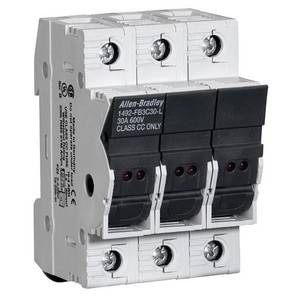 Allen-Bradley 1492-FB3C30-L Fuse Holder, Class CC, 30A, 3P, 110 - 600V, with Indicator