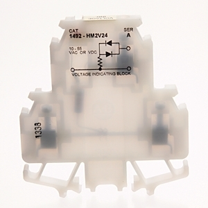 Allen-Bradley 1492-HM2V24 Terminal Block, Black, 24A, 10 - 55V AC/DC, LED Voltage Indicator