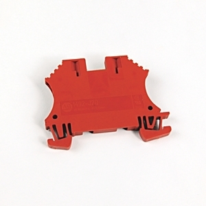 Allen-Bradley 1492-J2Q-RE Terminal Block, 25A, 300V AC/DC, Specialty, Red, 1.5mm