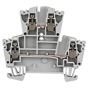 Allen-Bradley 1492-JD3 Terminal Block, 20A, 600V AC/DC, 2 Level, 2 Circuit, Gray, 2.5mm