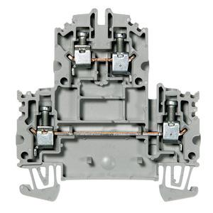 Allen-Bradley 1492-JD4-B Terminal Block, 35A, 600V AC/DC, 2 Level, 2 Circuit, Blue, 4mm