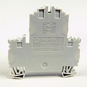 Allen-Bradley 1492-JD4-W Terminal Block, 35A, 600V AC/DC, 2 Level, 2 Circuit, White, 4mm