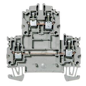 Allen-Bradley 1492-JD4 Terminal Block, 35A, 600V AC/DC, 2 Level, 2 Circuit, Gray, 4mm