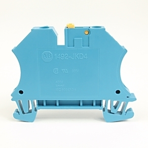 Allen-Bradley 1492-JKD4-B Terminal Block, Knife Disconnect, 22A, 600V AC/DC, Blue, 4mm