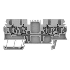 Allen-Bradley 1492-L2Q Terminal Block, 15A, 300V AC/DC, 2 Connection Side, Gray, 1.5mm