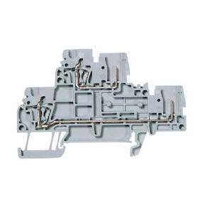 Allen-Bradley 1492-LD32P Terminal Block, 2 Circuit, 1 Fixed, 1 Plug-in Conn., Gray, 2.5mm