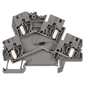 Allen-Bradley 1492-LD4 Terminal Block, 25A, 600V, AC/DC, 2 Circuit, Gray, 4mm