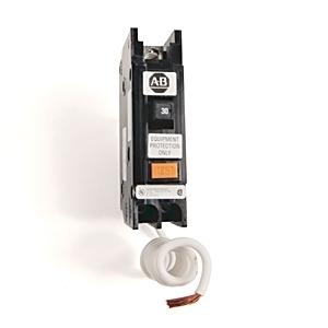 Allen-Bradley 1492-MCEA130 Breaker, 30A, 1P, 120VAC, Ground Fault Sensing, 30mA Sensitivity