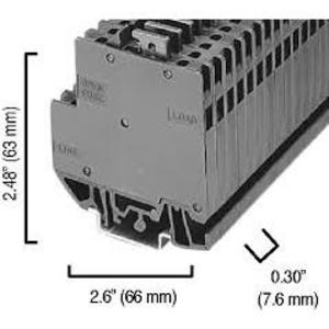Allen-Bradley 1492-N37 Terminal Block, End Barrier, High Density, Gray