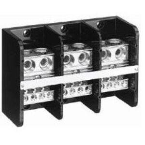 Allen-Bradley 1492-PD3287 Distribution Block, 760A, 600V AC/DC, 3P, Aluminum, 2 In/8 Out