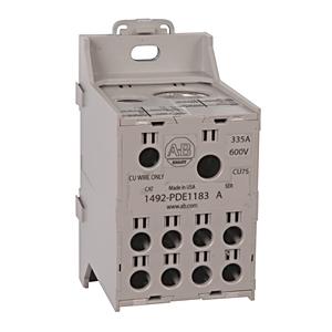Allen-Bradley 1492-PDE1183 Enclosed Power Distribution Block, 1-Pole, 2-Line, 8-Load, 335A