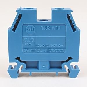 Allen-Bradley 1492-W10-B Terminal Block, 50A, 600V AC/DC, Blue, 10mm, Space Saver
