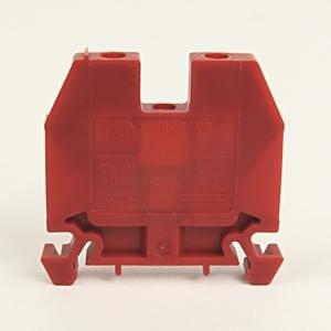 Allen-Bradley 1492-W6-RE Terminal Block, 40A, 600V AC/DC, Red, 6mm, Space Saver
