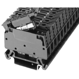Allen-Bradley 1492-WFB4 Terminal Block, Fuse Block, 15A, 300V AC/DC, Type W, 4mm, Black