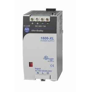 Allen-Bradley 1606-XL120D Power Supply, 120W, 24VDC Output, 1-Phase