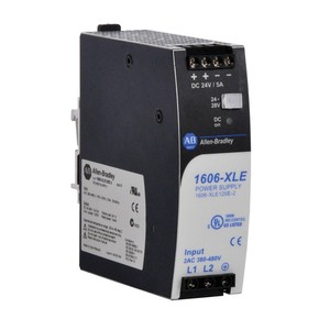 Allen-Bradley 1606-XLE120E-2 Power Supply, Switched Mode, 120W Output, 24-28 Output Voltage, 2P