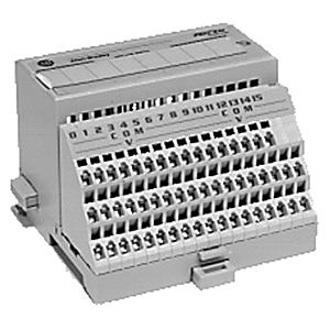 Allen-Bradley 1794-TB3 Terminal Base, 16 I/O Terminals, 18 Common Terminals, 10A, 132VAC