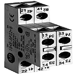 Allen-Bradley 194E-A-P22 Auxiliary Contact, for 194E-A Load Switch, 2NO/2NC, Side Mount