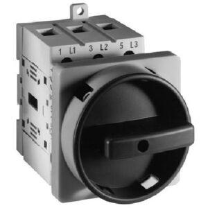 Allen-Bradley 194E-E63-1753-6N Disconnect Switch, 3P, 2-Position, 63A, 690VAC, Red/Yellow Knob
