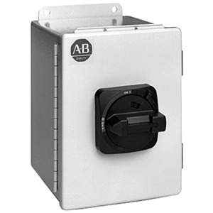 Allen-Bradley 194E-FA16E-PD10 Disconnect Switch, Enclosed, 16A, 500VAC, 3P, Red/Yellow Knob