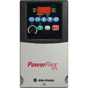 Allen-Bradley 22B-V2P3N104 Drive, PowerFlex 40, 120VAC, 1PH, 2.3A, 0.4KW, 0.5HP, No Filter