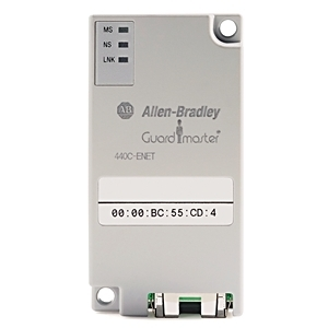 Allen-Bradley 440C-ENET Ethernet Plug-In Module, Guardmaster, Slot 1 Only, 42mA, 50VDC