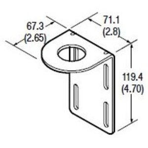 Allen-Bradley 60-2513 Mounting Bracket, Right Angle, 360 Degree Rotation, Series 9000