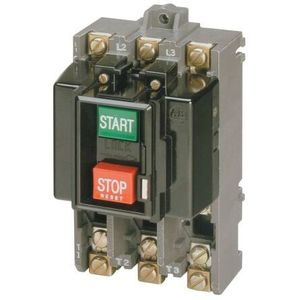 Allen-Bradley 609-AAW Manual Starter, Switch, 3P, Size 0, Push Button, Type 1
