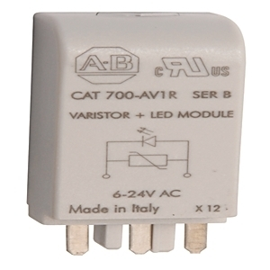 Allen-Bradley 700-AV3R Surge Suppressor, Varistor, w/LED, 110-240VAC, for 700-HN123 Socket