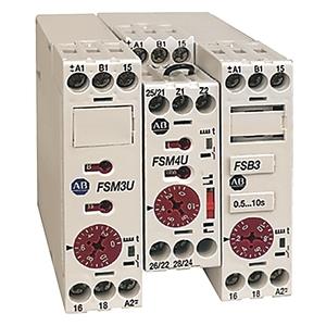 Allen-Bradley 700-FSA4UU23 Timing Relay, Single Function, On-Delay, 2 Change Over Contact