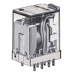 Allen-Bradley 700-HC24Z24-3-4 Miniature Ice Cube Relay, 14-Blade, 4PDT, 7A, 24VDC, Push to Test