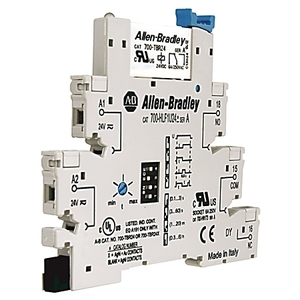 Allen-Bradley 700-HLT2Z24 Terminal Block Relay, 1P, 6A, 24VDC, Spring Clamp, Terminals