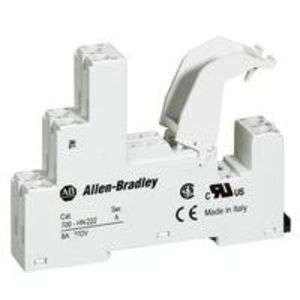Allen-Bradley 700-HN222 Socket, 8-Blade, Miniature, 8A, 2P, 700-HK, Retainer Clips Incl.