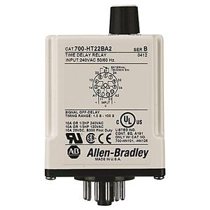Allen-Bradley 700-HT12BU120 Timing Relay, 8-Pin, Tube Base, On-Delay, 120VAC, 2PDT