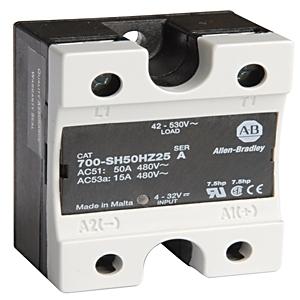 Allen-Bradley 700-SH50VA24 Relay, Solid State, Optocoupler, 50A, 42-660VAC, 20-280VAC/22-48VDC