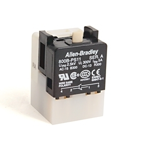 Allen-Bradley 800B-PS11 Push Button, Contact Block, Latch Module, 1NO/1NC, Snap Action