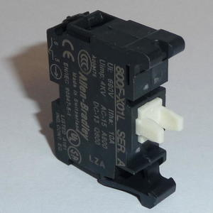 Allen-Bradley 800F-X01L Contact Block, 22.5mm, Plastic, 1 Normally Closed, Late Break