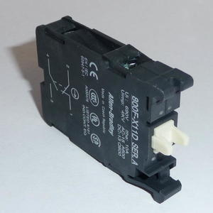 Allen-Bradley 800F-X11D Contact Block, 22.5mm, Plastic, 1 NO/NC, Dual Circuit