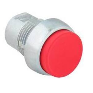 Allen-Bradley 800FM-E4 Push Button, Operator, Extended Head, Metal, Red, 22.5mm
