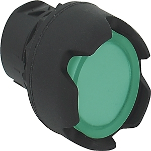 Allen-Bradley 800FP-LG3 Push Button, Guarded Green Head, Illuminated, 22.5mm, Plastic