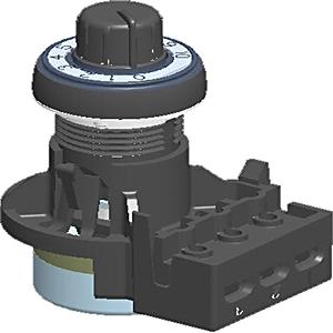 Allen-Bradley 800FP-POT4 Potentiometer, 2500 Ohms, Series B, Single Turn, 22.5mm