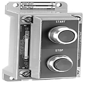 """Allen-Bradley 800H-2HA7 Control Station, 2 Push Button, Start/Stop, NEMA 7/9, 3/4"""" Dead End"""
