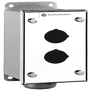 "Allen-Bradley 800H-3HZ4 Enclosure, 3-Hole, Stainless Steel, 1 x 3/4"" Hub, NEMA 4/4X/13"
