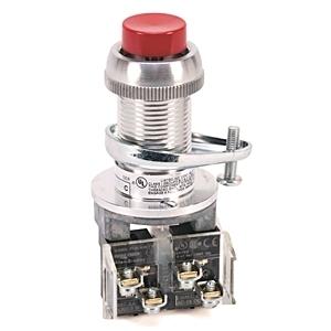 Allen-Bradley 800H-BP6A Push Button, Extended Head, Red, NEMA 7/9, 1NO/1NC, Contact
