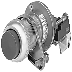 Allen-Bradley 800H-BP6D2 Push Button, Extended Head, Red, NEMA 7/9, 1NC, Contact