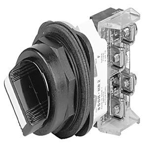 Allen-Bradley 800H-HR2B Selector Switch, 2-Position, Maintained, Black Knob, 2NO/2NC