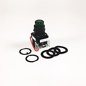 Allen-Bradley 800H-QRTH2A Pilot Light, Amber, Push to Test, 12-130V AC/DC, LED, Type 4/4X/13